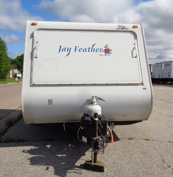 front of Jayco camper