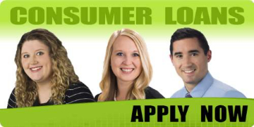 Leianna Melde, Kendra Nichols, and Jon Cook, 1st CCU's Consumer Loan Officers. Click to apply now.