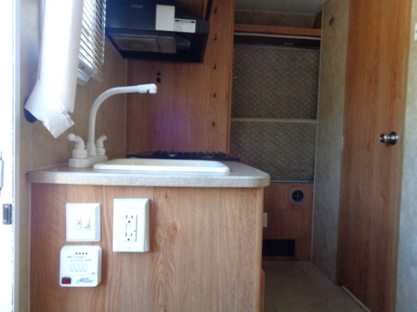 inside Jayco Feather camper