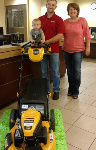 1st time home buyer with free lawnmower, pictured with Molli Hundt