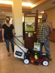 Mortgage Loan Office Lisa Miller with Clayton and new lawnmower
