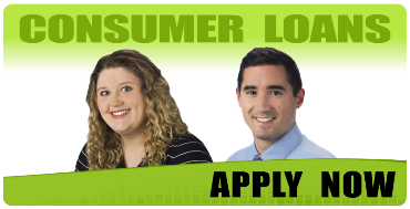 Leianna Melde and Jon Cook, Consumer Loan Officers. Apply Now!