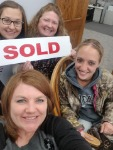 1st time homebuyer Heather with Molli Hundt, Mortgage Loan Officer, Ashley, and Heidi at mortgage closing