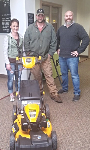 1st time home buyer with free lawnmower, pictured with Scott White