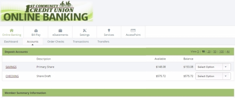 Online Banking :: 1st Community Credit Union