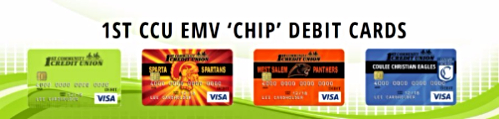4 EMV 'Chip' Debit Card designs available