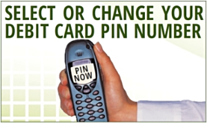 Select or change debit card PIN