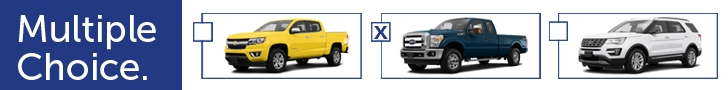 three different vehicles and check boxes. Multiple Choice.